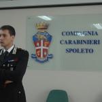 Il nuovo capitano dei carabinieri di Spoleto Marco Belilli