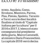 Spoleto, la città sul Corriere della Sera