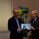 Spoleto, la Fondazione Carispo dona il Teodolapio a Giorgio Mulè