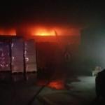 Cannara, vasto incendio nella zona industriale