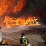 Spoleto, divampato incendio da un impianto a biogas