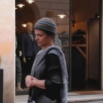 Spoleto, Tosca D'Aquino a Spoleto per girare un cortometraggio