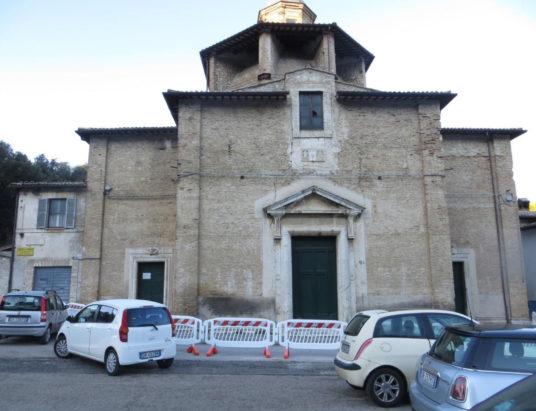 Danni esterni San Rocco spoleto