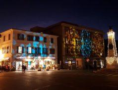 Piazza Garibaldi per le riprese di Don Matteo (foto tratta da Facebook/ Borgo via dello Shopping)